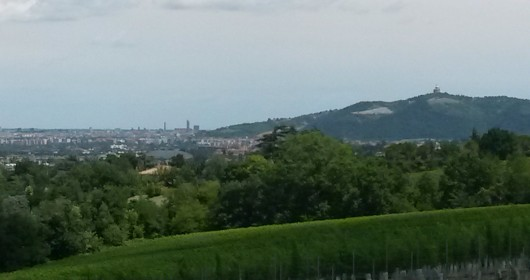 Cycling on the hills of Bologna
