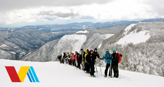 Snowshoeing to the top of Mount Autore