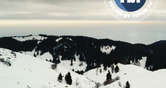 Snowshoeing on Mount Grappa