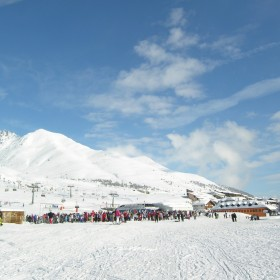 Skiing at Tonale Pass