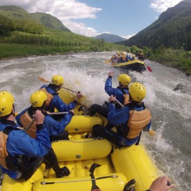 Rafting on the Noce river: Extra path