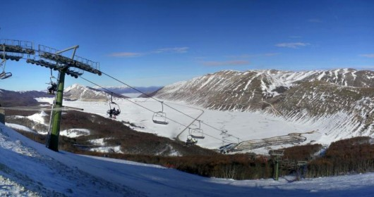 Skiing in Campo Felice