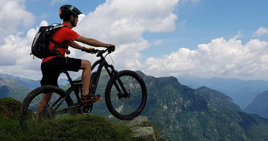 E-bike trail to the foot of Monte Rosa