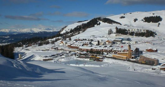 Skiing on the Seiser Alm