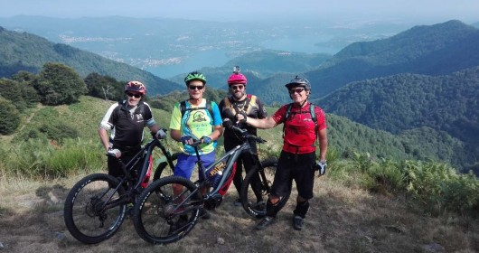 A MTB trail to Alpe Sacchi, overlooking Lake Orta