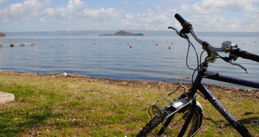 The Bolsena Lake by Mtb