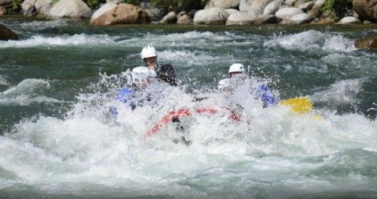 "Sesia - Rafting on the ""race stretch"""