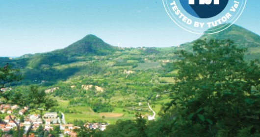 The path of Mount Cecilia on the Euganean Hills, in northern Italy