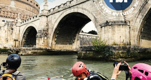 Urban rafting on the River Tiber in Rome