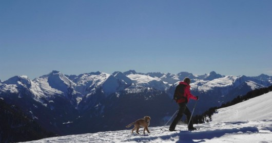 Snowshoeing to Pampeago
